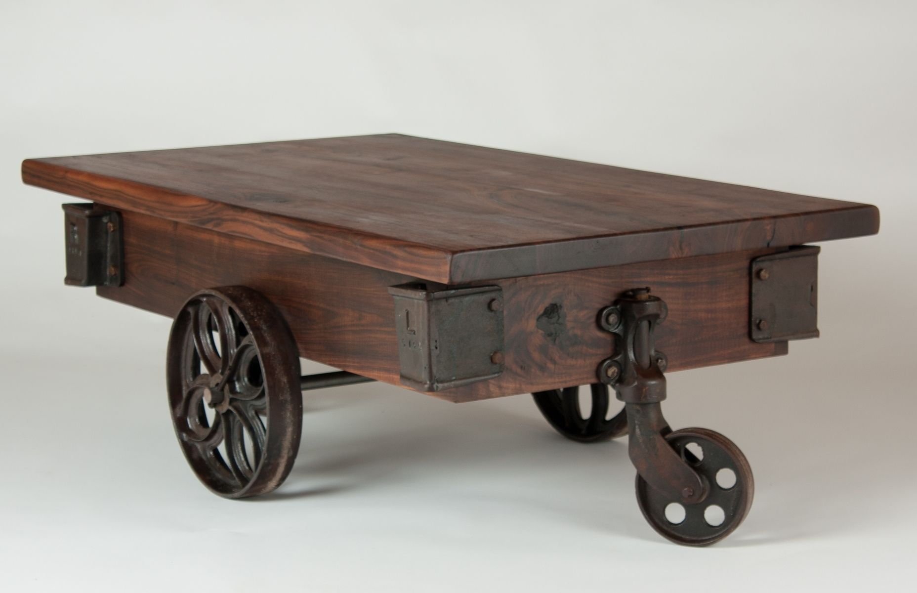 Wheel Coffee Table Alloy Antique