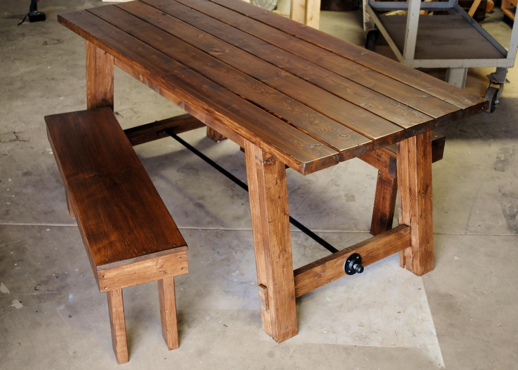 Hand made farmhouse table by sb designs for Table leg design ideas