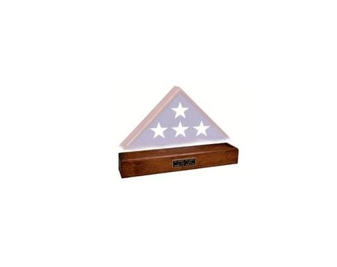 Custom Made Wood Pedestal, Pedestal For A Flag Case