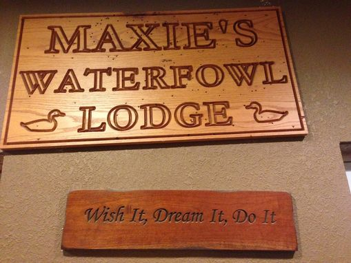 Custom Made Carved Signs