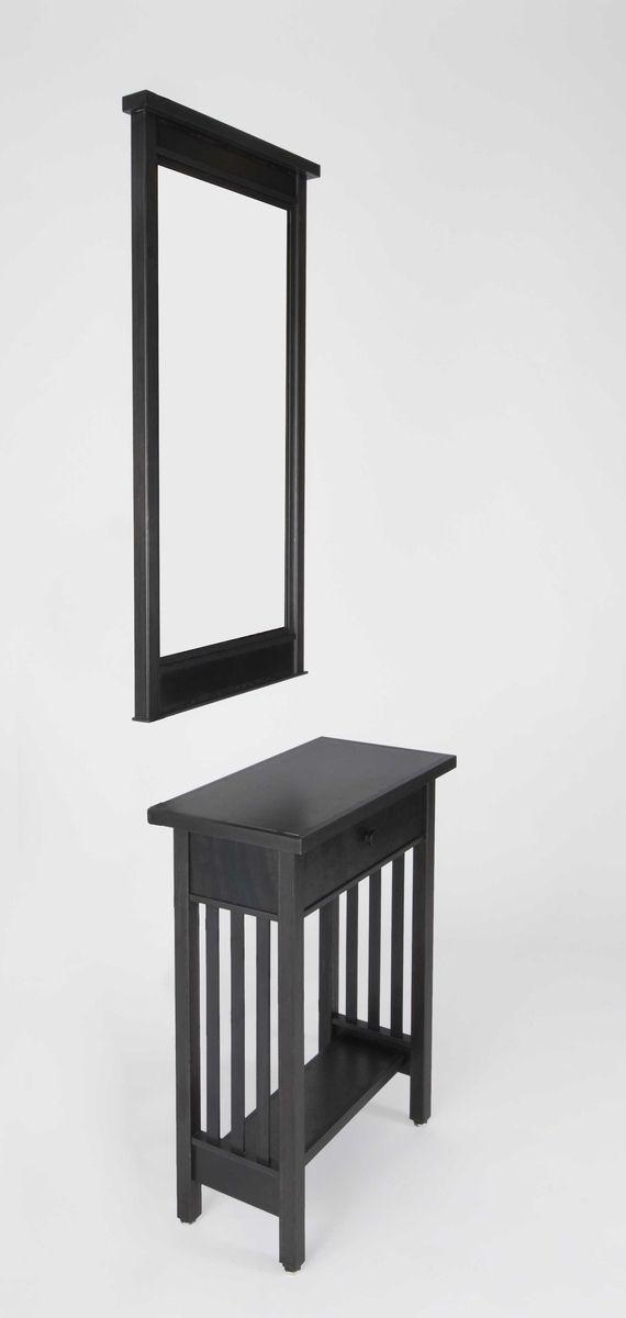 Metal Hall Table custom metal / steel: hall table & mirror set - mission style
