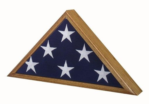 Custom Made High Quality - Flag Display Case American Made! Oak Finish