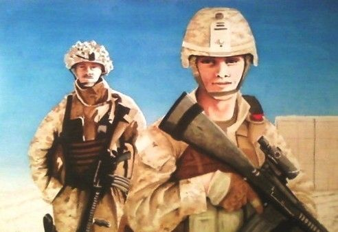 Custom Made Custom Military  Or Civil Service Watercolor Painting