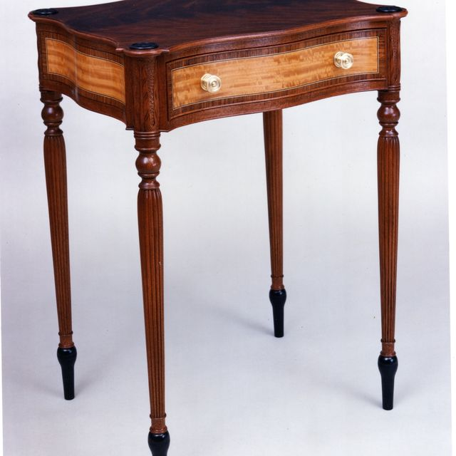 Custom Made Federal Period Work Table by W. Mickey Callahan, Maker Of Fine  Furniture | CustomMade.com - Custom Made Federal Period Work Table By W. Mickey Callahan, Maker