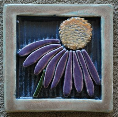 Custom Made Wildflower Tile #1