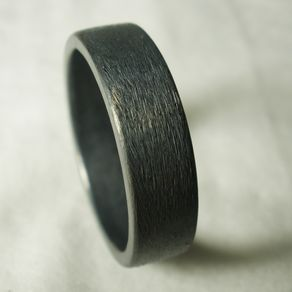 mens wedding ring rustic unique simple engagement recycled sterling silver oxidized - Cool Wedding Rings For Guys