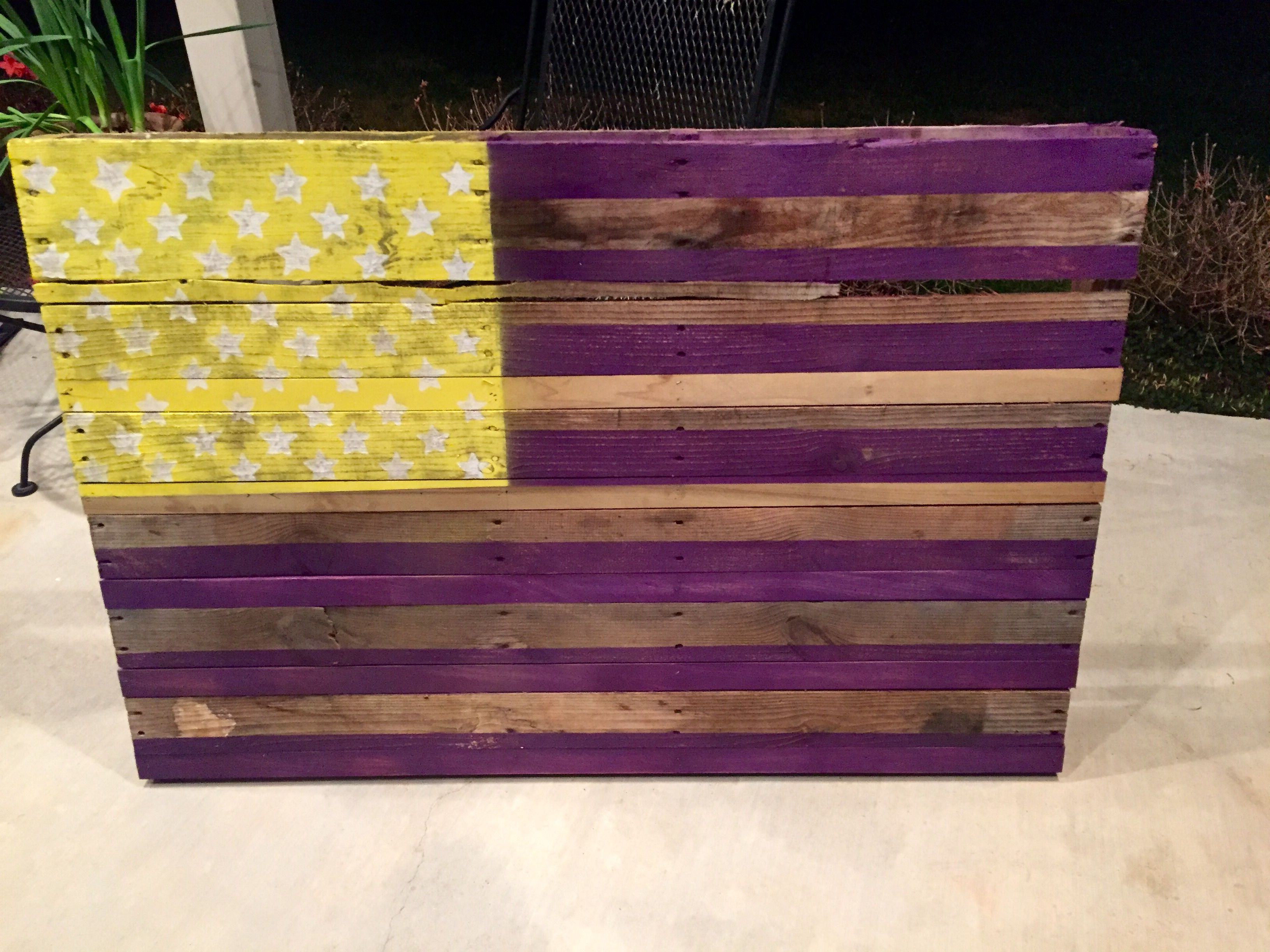 Handmade Custom Pallet Flags by Junkyard Dog Designs
