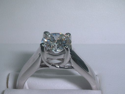 Custom Made Round Diamond Engagement Ring