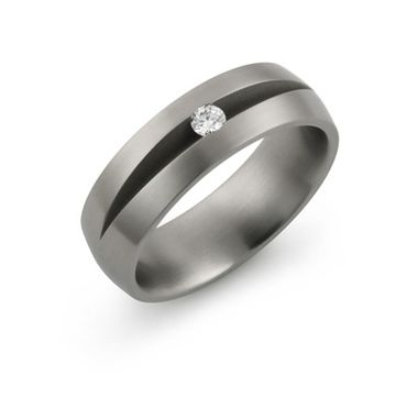 Custom Made Diamond Titanium Ring