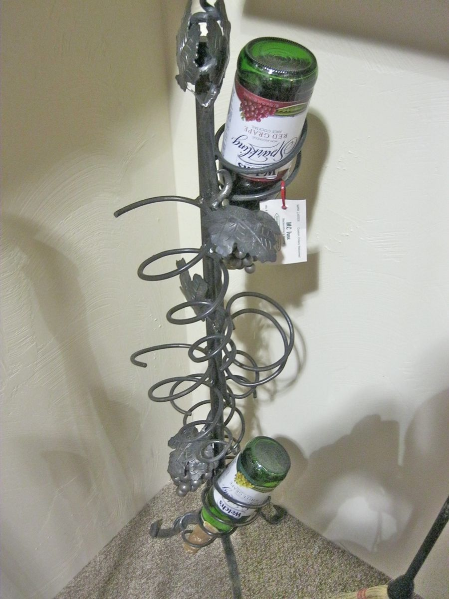 Hand Made Hand Forged Metal Wine Rack By Mciron