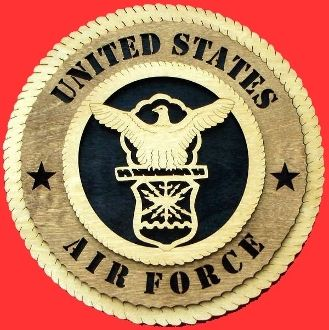 Custom Made Air Force Wall Tribute Hand Made Of Wood 3d