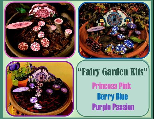 Custom Made Fairy Garden Kits, Kids Garden, Indoor Garden,Fairy Garden,Fairy Items,Fairy Accessories