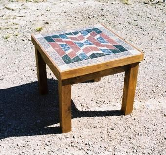 Custom Made Stone End Table