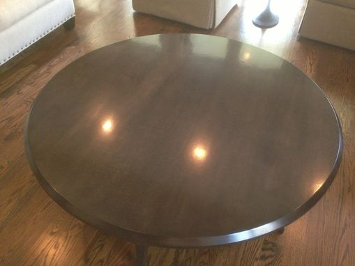 Custom Made Round Coffee Table With 5 Legs
