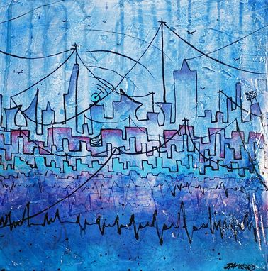 Custom Made Blue City Painting