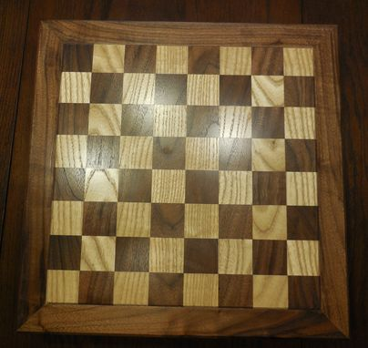 Custom Made Walnut/Oak Chessboard
