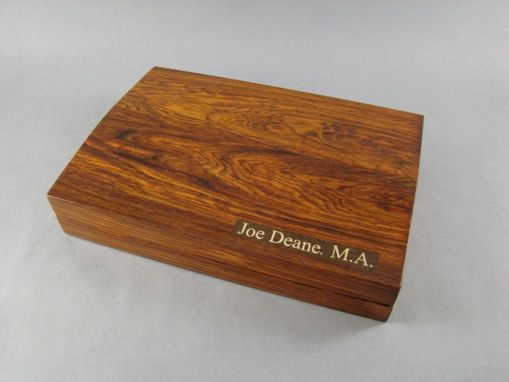 Custom Made Cocobolo Gentlemans Box