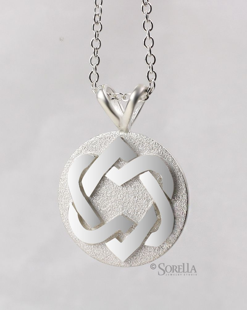 Buy a custom unified hearts pendant made to order from sorella unified hearts pendant mozeypictures Images