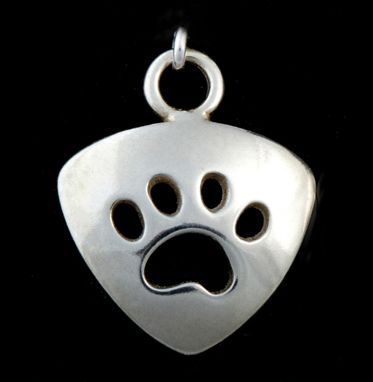 Custom Made Small Paw Cut-Out Charm - Triangle