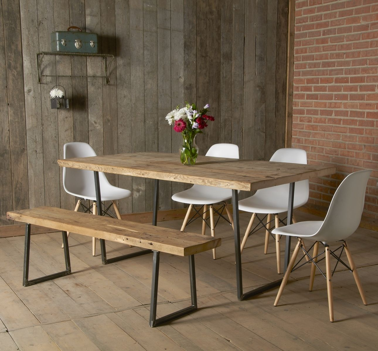 Buy a custom made brooklyn modern rustic reclaimed wood for Wood modern dining table