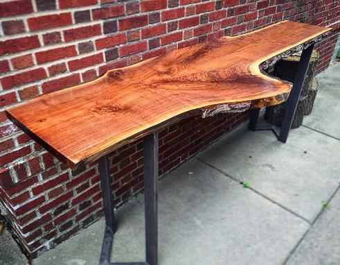 Custom Live Edge Slab Bar Table By Stockton Heritage