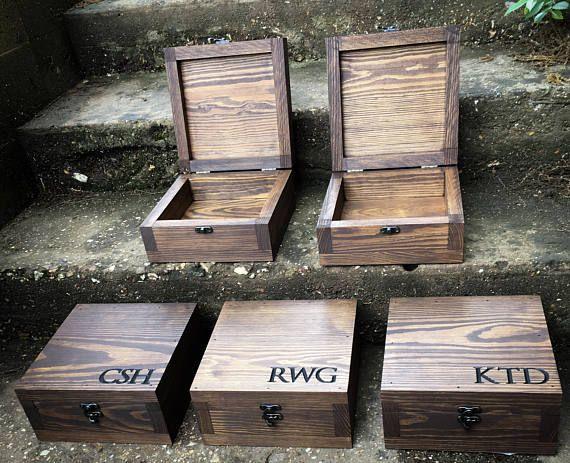Buy Handmade Groomsmen Gift Set 5 13 Gift Boxes Made To Order