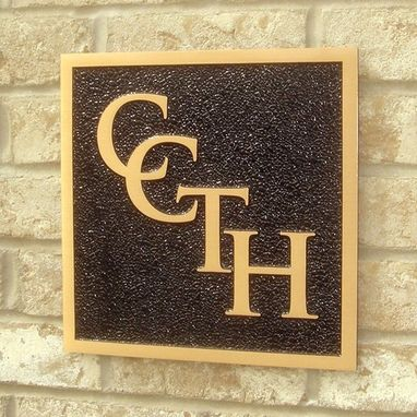 Custom Made Ccth Cast Bronze Plaques For Townhome Devel.