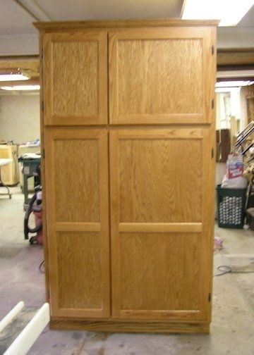oak kitchen pantry storage cabinet handmade 7 foot oak pantry with gun storage by 7134