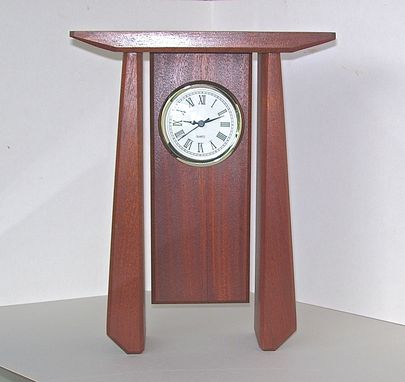 Custom Made Sapele Clock
