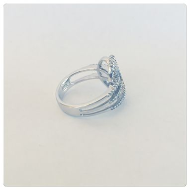 Custom Made Sossi 14k Womens Contemporary Diamond Cocktail Ring