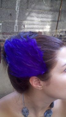 Custom Made Sale Purple Feather Hair Fascinator