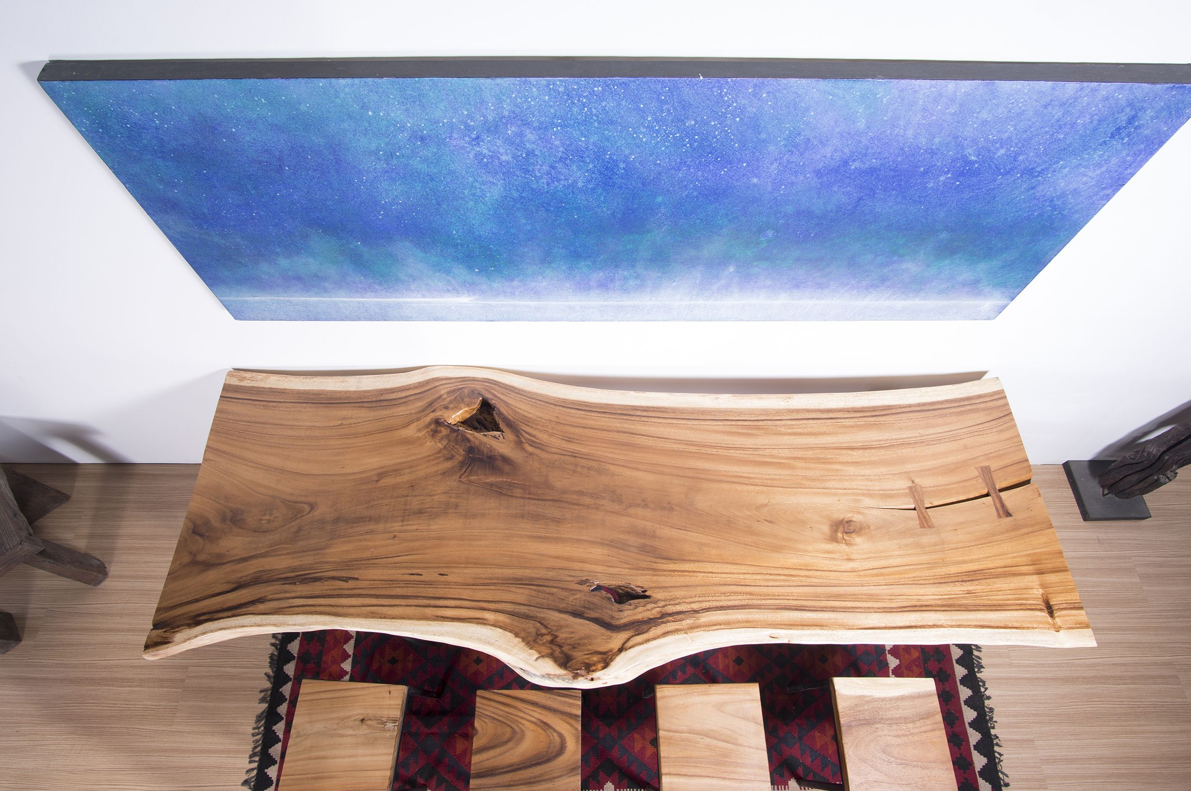 Buy A Custom Live Edge Wood Slab Table Ideal For Dining - Wood slab conference table
