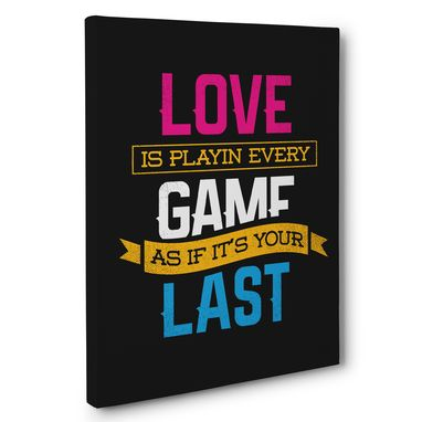 Custom Made Love Motivational Quote Black Canvas Wall Art Home Décor
