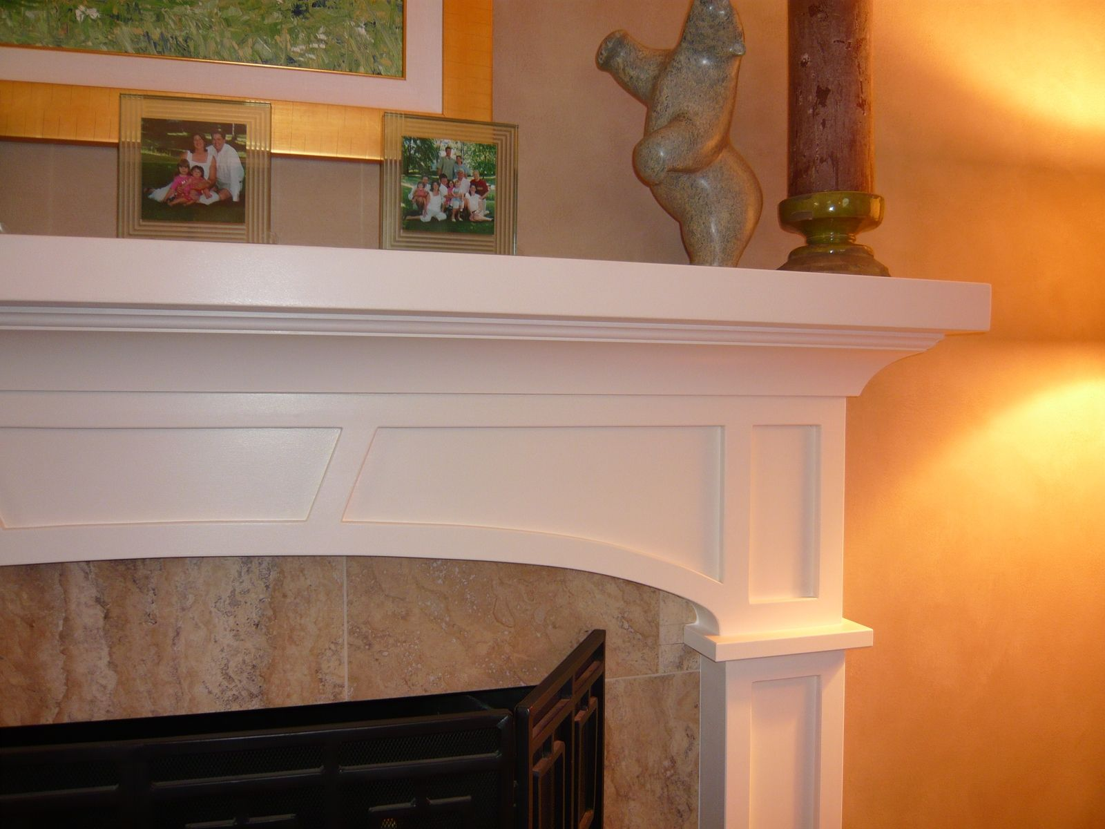 custom craftsman fireplace surround by homecoming woodworks