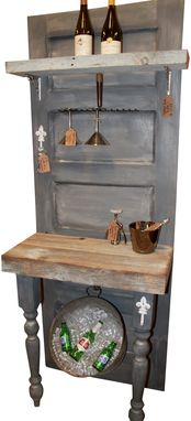 Custom Made Vintage Door Bar With Reclaimed Wood And Annie Sloan Paris Grey Chalk Paint®