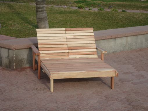Custom Made Best Redwood Double Beach Chaise Lounge