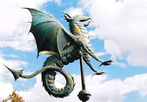 Custom Made Dragon Weathervane