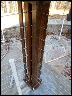 Hand Crafted Steel Pergola And Cable Railing By Small Axe