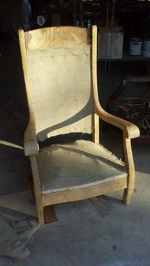 Custom Made Antique Oak Rocking Chair