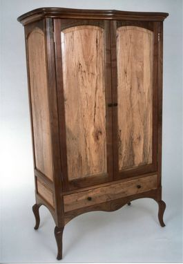 Custom Made Walnut & Spalted Pecan Armoire