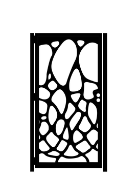 Custom Made Decorative Gaudi Steel Gate - Antoni Gaudi - Modernist Steel Art - Decorative Wall Panel - Handmade