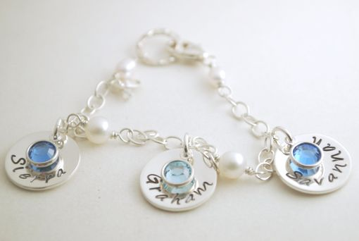 Custom Made Personalized Charm Bracelet With Custom Names