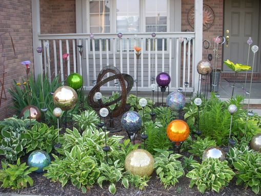 Custom Made Metal Garden Sphere Sculptures