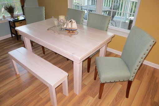 Custom Made Rustic Farmhouse Dining Table And Sets