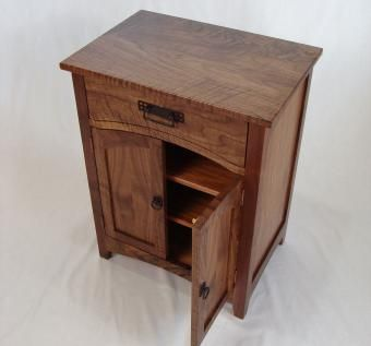 Custom Made Custom Designed Arts And Crafts Black Walnut Cabinet