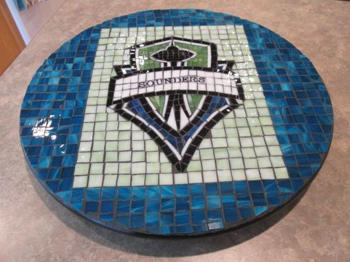 Custom Made Seattle Sounders Mosaic Lazy Susan