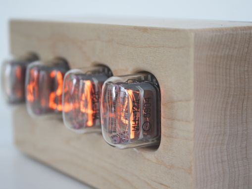 Custom Made Nixie Tube Clock - Hard Maple