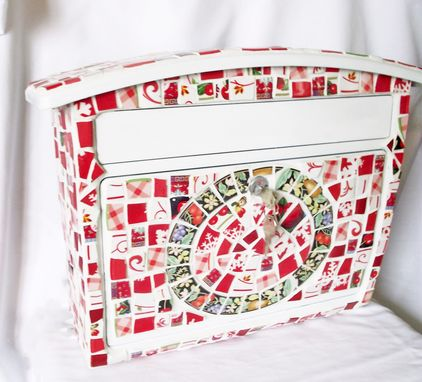 Custom Made Mosaic Letterbox Mailbox - Broken China Mosaic Wall Mount