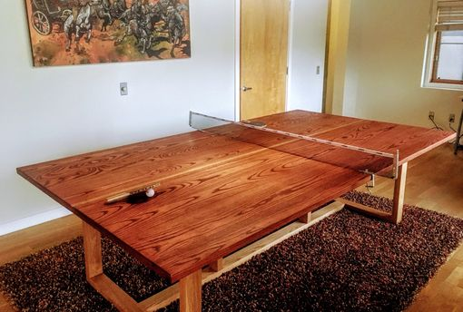 Custom Made Custom Regulation 9x5 Hardwood Ping Pong / Dining Table