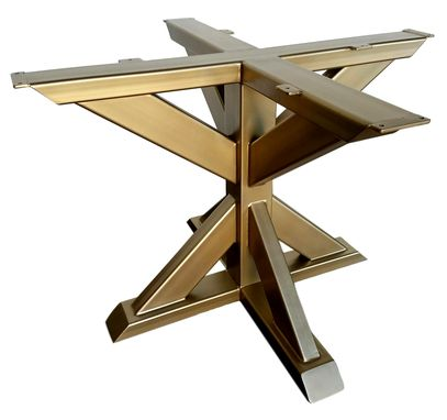 Hand Made Metal Table Base Pedestal Style Trestle By